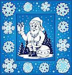 Christmas topic greeting card 6 - eps10 vector illustration.
