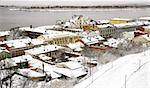 Oldest street and embankment in winter Nizhny Novgorod Russia