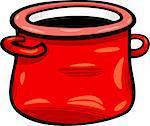 Cartoon Illustration of Red Jar or Pot Clip Art