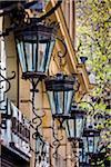Street Lamps along Morande Street, Santiago, Chile