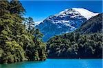 Scenic view of lake and mountain top, The Andes Mountains at Nahuel Huapi National Park (Parque Nacional Nahuel Huapi), Argentina