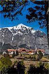 Scenic view of Hotel Llao-Llao, Bariloche, Nahuel Huapi National Park (Parque Nacional Nahuel Huapi), Argentina