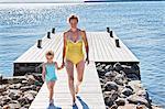 Mother and daughter hand in hand, Utvalnas, Gavle, Sweden