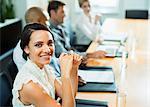 Businesswoman sitting in meeting
