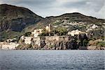An image of the active vulcano islands at Lipari Italy