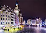 Dresden, Germany at Neumarkt Square.