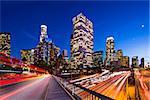 Downtown Los Angeles, California, USA skyline.