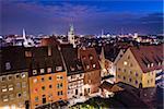 Nuremberg, Germany old city skyline.