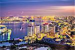 Viewof Tokyo, Japan over Tokyo Bay.