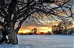 Winter sunset on the mountain from Macedonia