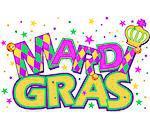 Mardi Gras type treatment with crown