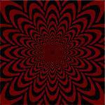 Op art design abstract perspective funnel textured backdrop. Vector-art illustration