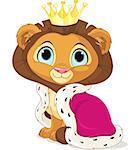 A cute Cartoon Lion King