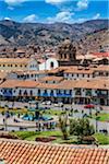 Overview of Plaza de Armas, Cusco, Peru