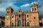 Facade of Cathedral of Santo Domingo, Cusco, Peru