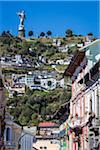 Statue of the Virgin at El Panecillo and Historic Centre of Quito, Ecuador