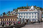 Plaza de San Francisco, El Panecillo in background, Quito, Ecuador