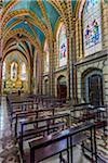 Interior of Basilica del Voto Nacional, Quito, Ecuador