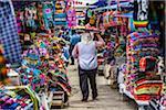 Fruit Seller in Clothing Market, Otavalo, Imbabura Province, Ecuador