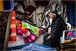 Woman in Clothing Market, Otavalo, Imbabura Province, Ecuador
