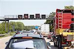 Traffic Jam on Freeway, Bremen, Germany