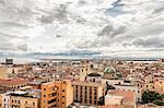 High angle view of Cagliari, Sardinia, Italy
