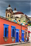Papel Picado Hanging over Street, Oaxaca de Juarez, Oaxaca, Mexico