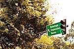 Road sign in Rio de Janeiro, Brazil