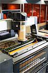 Printing machine in print workshop