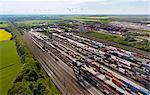 View of rail freight, Munich, Bavaria, Germany