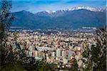 View of Santiago from Cerro San Cristobal, Bellavista District, Santiago, Chile