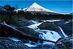 Osorno Volcano and Petrohue Waterfalls, Parque Nacional Vicente Perez Rosales, Los Lagos Region, Patagonia, Chile