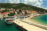 Bol city on Brac island view from sea
