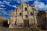 ruins of the island Capraia. Elba, Tuscany. Italy