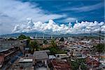 Clouds over Santiago de Cuba harbour, Cuba