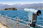 Lago Maggiore, Maggiore Lake, Italy. View from the promenade in front of Isola Bella, the most beautiful of the three Isole Borromee
