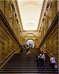 People walking on stairway inside the Metropolitan Museum of Art, Museum Mile, Manhattan, New York City, New York, USA