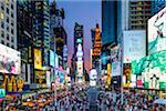 Crowd at Times Square at sunset, Broadway, Manhattan, New York City, New York, USA