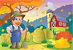 Autumn farm theme 3 - eps10 vector illustration.