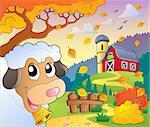 Autumn farm theme 6 - eps10 vector illustration.