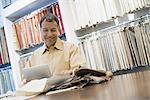 Man working in design store