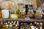 Essences for artisan soaps on sale at Martin de Candre specialist savon shop Mestre at Fontevraud L'Abbaye, Loire Valley, France