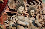 Clay statues of Hindu gods and goddesses, Kumartulli district, Kolkata (Calcutta), West Bengal, India, Asia