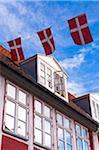 Danish Flags at Kronborg, Helsingor, Zealand Island, Denmark