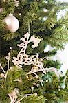 Reindeer Christmas ornament on tree