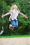 9 Year old boy on swing