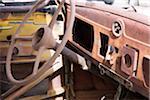 Interior of Abandoned Rusty Car
