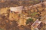 Fort wall on hillside