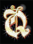 Bling alphabet Q