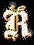 Bling alphabet R